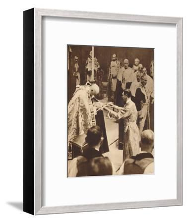 'The Sword of State', May 12 1937-Unknown-Framed Photographic Print