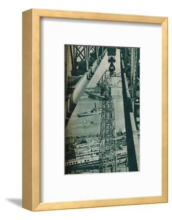 'Seen from a crane, the River Clyde has appearance of a long narrow dock basin', 1937-Unknown-Framed Photographic Print