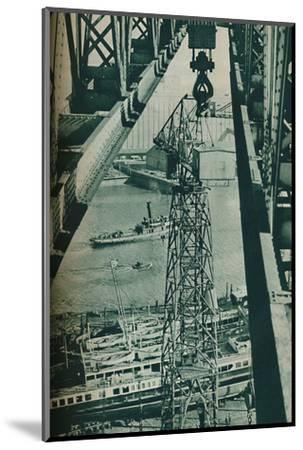 'Seen from a crane, the River Clyde has appearance of a long narrow dock basin', 1937-Unknown-Mounted Photographic Print
