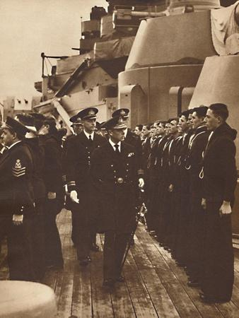 'Men of H.M.S. Royal Oak', 1937-Unknown-Framed Photographic Print