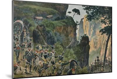 'The French Army in the Mountains of Portugal', 1896-Unknown-Mounted Giclee Print