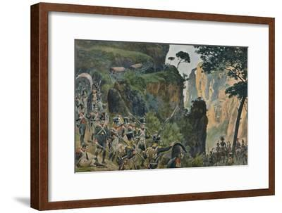 'The French Army in the Mountains of Portugal', 1896-Unknown-Framed Giclee Print
