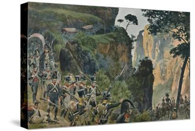 'The French Army in the Mountains of Portugal', 1896-Unknown-Stretched Canvas Print