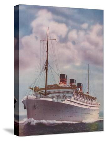 'All Electric from Stem to Stern - The Monarch of Bermuda', 1937-Unknown-Stretched Canvas Print