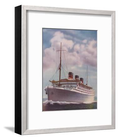 'All Electric from Stem to Stern - The Monarch of Bermuda', 1937-Unknown-Framed Giclee Print