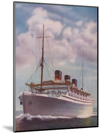 'All Electric from Stem to Stern - The Monarch of Bermuda', 1937-Unknown-Mounted Giclee Print
