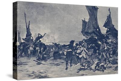 'The Battle of Quiberon', 1795, (1896)-Unknown-Stretched Canvas Print