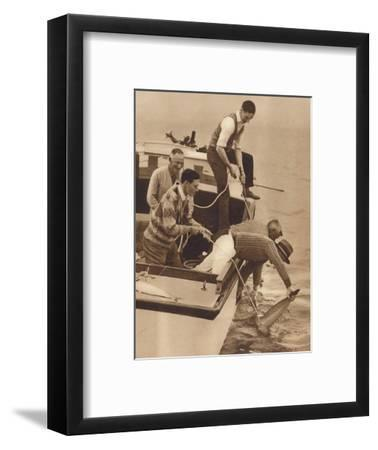 'Big Game Fishing, Bay of Islands, New Zealand', c1927, (1937)-Unknown-Framed Photographic Print