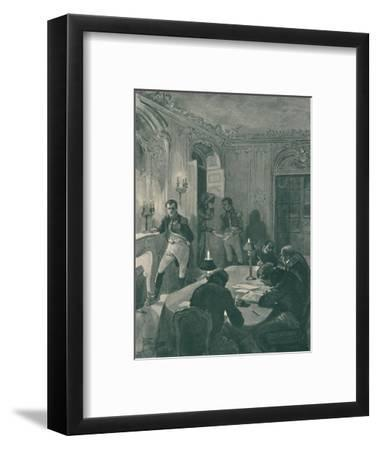 'Napoleon Dictating To His Secretaries', 1896-Unknown-Framed Giclee Print