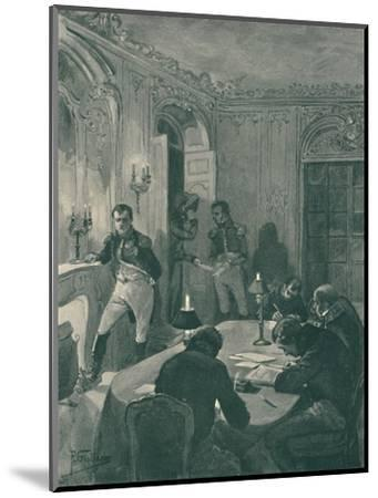 'Napoleon Dictating To His Secretaries', 1896-Unknown-Mounted Giclee Print