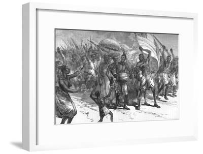 'March of Ashantee Warriors', c1880-Unknown-Framed Giclee Print