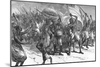 'March of Ashantee Warriors', c1880-Unknown-Mounted Giclee Print