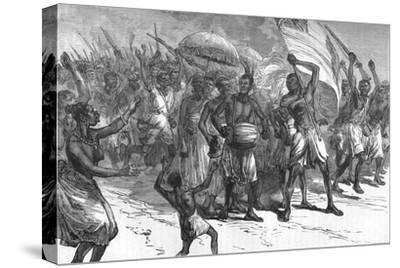 'March of Ashantee Warriors', c1880-Unknown-Stretched Canvas Print