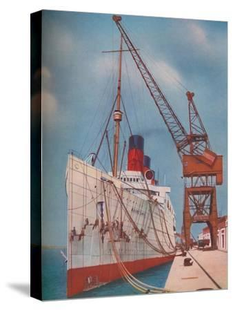 'One of the Most Popular Transatlantic Liners, the Mauretania at Southampton', 1937-Unknown-Stretched Canvas Print