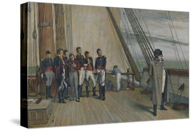 'Napoleon on Board H.M.S. Bellerophon, July, 1815', (1896)-Unknown-Stretched Canvas Print