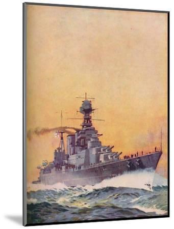 'HMS Hood was laid down in 1916 and completed in 1920', 1937-Unknown-Mounted Giclee Print
