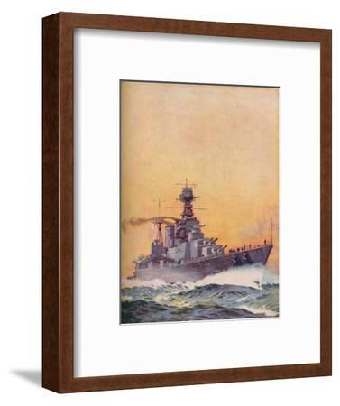 'HMS Hood was laid down in 1916 and completed in 1920', 1937-Unknown-Framed Giclee Print