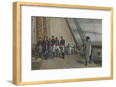'Napoleon on Board H.M.S. Bellerophon, July, 1815', (1896)-Unknown-Framed Giclee Print