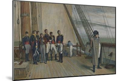 'Napoleon on Board H.M.S. Bellerophon, July, 1815', (1896)-Unknown-Mounted Giclee Print