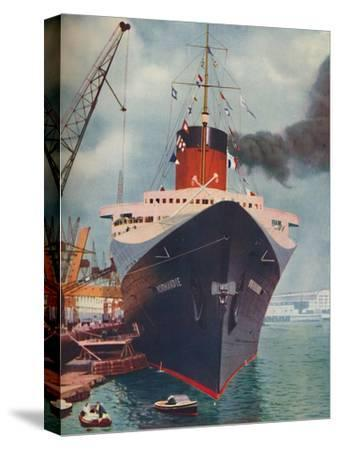 'One of the World's Great Ships. The French liner Normandie', 1937-Unknown-Stretched Canvas Print