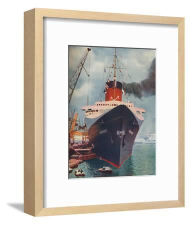 'One of the World's Great Ships. The French liner Normandie', 1937-Unknown-Framed Giclee Print