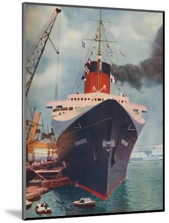 'One of the World's Great Ships. The French liner Normandie', 1937-Unknown-Mounted Giclee Print