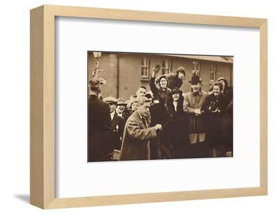 'Wales Knows How To Cheer', 1936 (1937)-Unknown-Framed Photographic Print