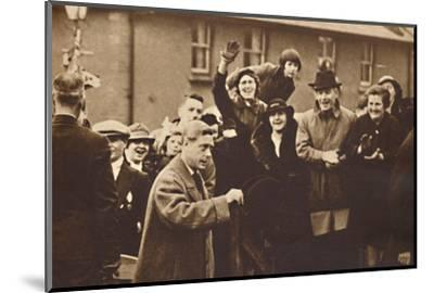 'Wales Knows How To Cheer', 1936 (1937)-Unknown-Mounted Photographic Print