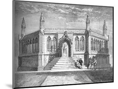 'Memorial Chapel at Cawnpore', c1880-Richard Principal Leitch-Mounted Giclee Print