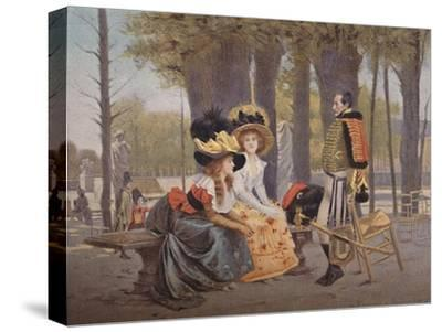 'La Causerie. - Life in Paris in 1793', (1896)-Unknown-Stretched Canvas Print