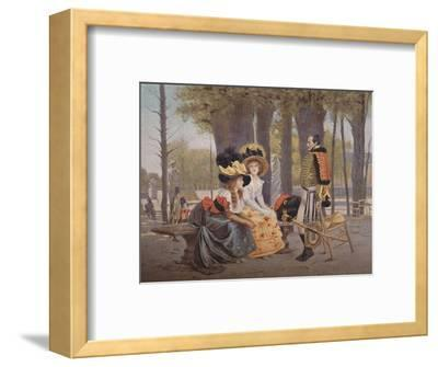 'La Causerie. - Life in Paris in 1793', (1896)-Unknown-Framed Giclee Print