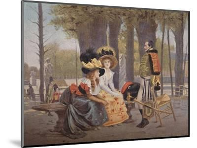 'La Causerie. - Life in Paris in 1793', (1896)-Unknown-Mounted Giclee Print