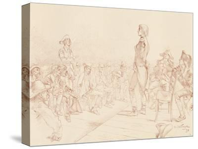 'Bonaparte Addressing a Jacobin Club in Corsica', c1789, (1896)-Unknown-Stretched Canvas Print