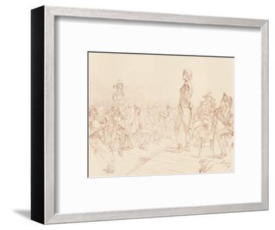 'Bonaparte Addressing a Jacobin Club in Corsica', c1789, (1896)-Unknown-Framed Giclee Print
