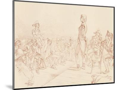'Bonaparte Addressing a Jacobin Club in Corsica', c1789, (1896)-Unknown-Mounted Giclee Print