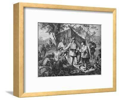 'Chinese Dealers in the Camp of the Allies', c1880-Unknown-Framed Giclee Print