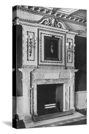 'Chimney-Piece in the Red Drawing Room, Raynham Hall, Norfolk', 1927-Unknown-Stretched Canvas Print
