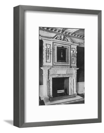 'Chimney-Piece in the Red Drawing Room, Raynham Hall, Norfolk', 1927-Unknown-Framed Photographic Print