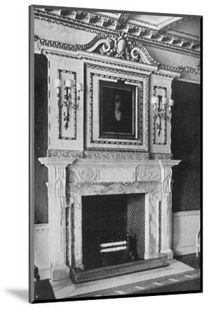 'Chimney-Piece in the Red Drawing Room, Raynham Hall, Norfolk', 1927-Unknown-Mounted Photographic Print