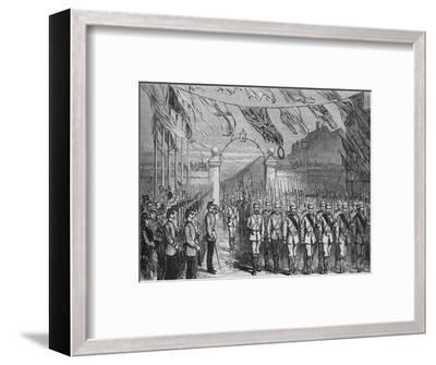 'The Return of the Troops from Ashantee', c1880-Unknown-Framed Giclee Print