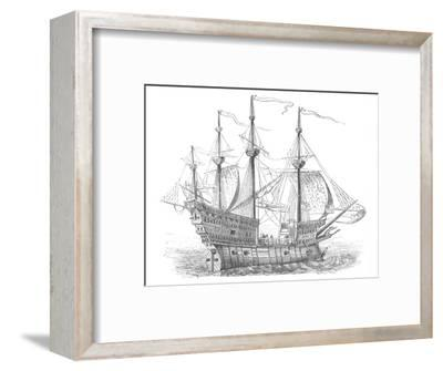 'Ship of Henry VIII', c1880-Unknown-Framed Giclee Print