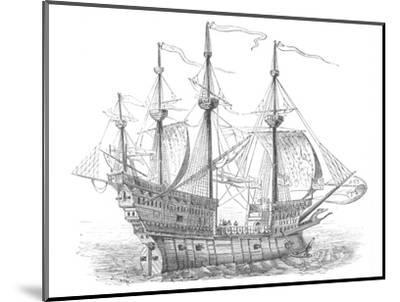 'Ship of Henry VIII', c1880-Unknown-Mounted Giclee Print