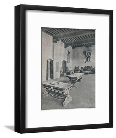 'Interior Palazzo Davanzati, Florence. With Two 16th Century Tables', 1928-Unknown-Framed Photographic Print