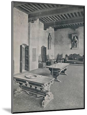 'Interior Palazzo Davanzati, Florence. With Two 16th Century Tables', 1928-Unknown-Mounted Photographic Print