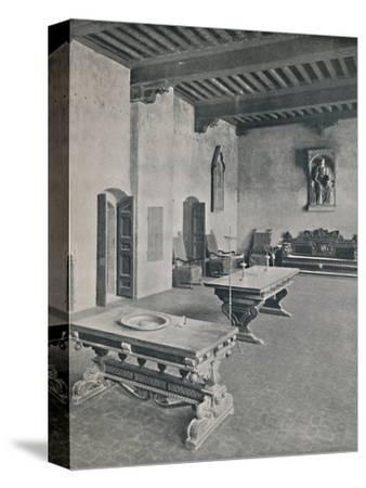 'Interior Palazzo Davanzati, Florence. With Two 16th Century Tables', 1928-Unknown-Stretched Canvas Print