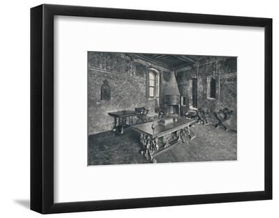 'Interior, Palazzo Davanzati - With Late 16th Century Florentine Table', 1928-Unknown-Framed Photographic Print