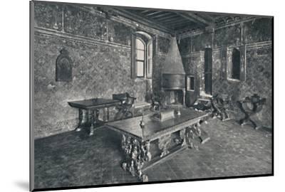 'Interior, Palazzo Davanzati - With Late 16th Century Florentine Table', 1928-Unknown-Mounted Photographic Print
