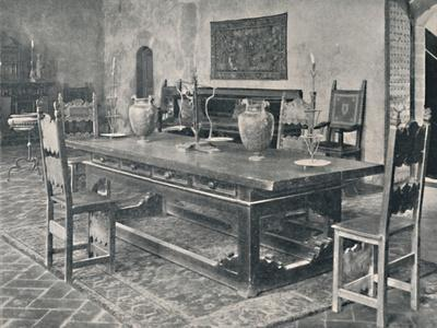'Interior, Palazzo Davanzati - With 15th Century Table from Parma or Modena District', 1928-Unknown-Framed Photographic Print