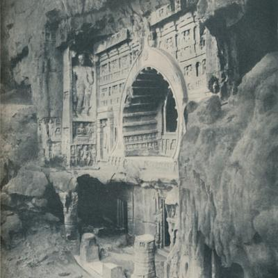 'Columns and Architrave Chiselled from the Rock with Wondrous Skill', c1935-Unknown-Framed Photographic Print