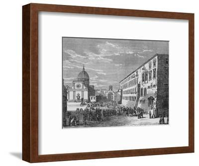 'View in Naples', c1880-Unknown-Framed Giclee Print